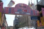 L'arrivo di tappa del Giro d'Italia