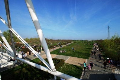 Vista dalla terrazza - il parco