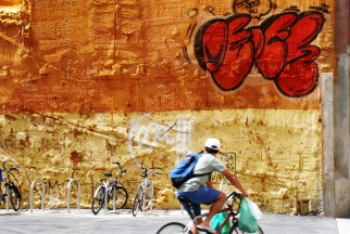 Weekly Photo Challenge - Orange Barcelona Wall