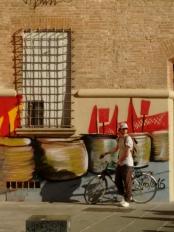 Window, Graffiti & Biker