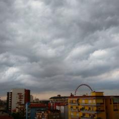 Heavy clouds, but no rain