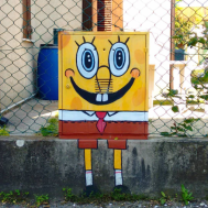Spongebob, the underwater hero!
