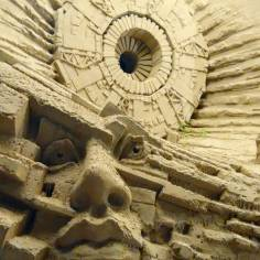 Sand sculpture: the synchrotron.