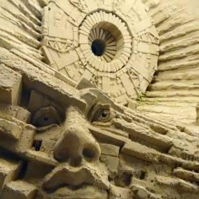 Sand sculpture: the synchrotron.