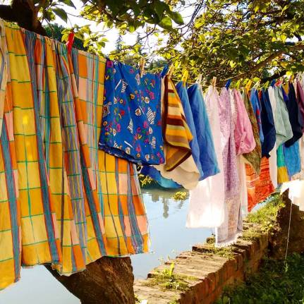 The rainbow laundry.