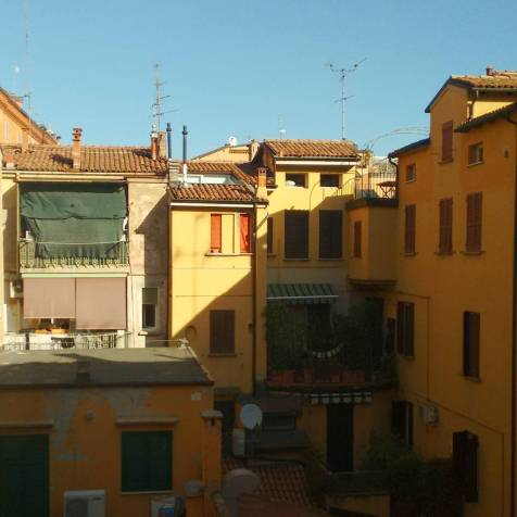 Bologna - The view from the room with a view.